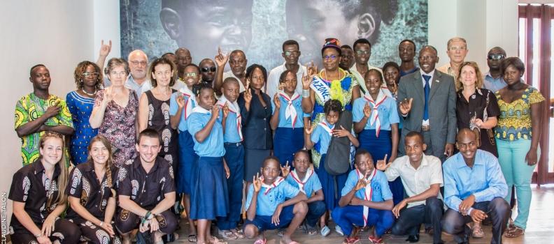 Visite des élèves de l'école des sourds de Louho
